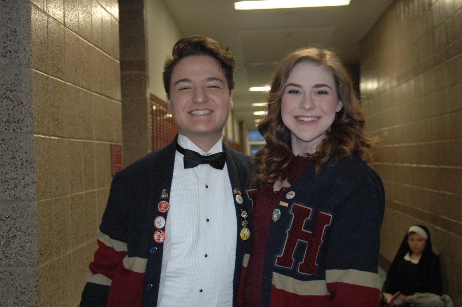 Student directors, Madilyn Mounteer and Jonathan Francis pose before their production of The Sound of Music.